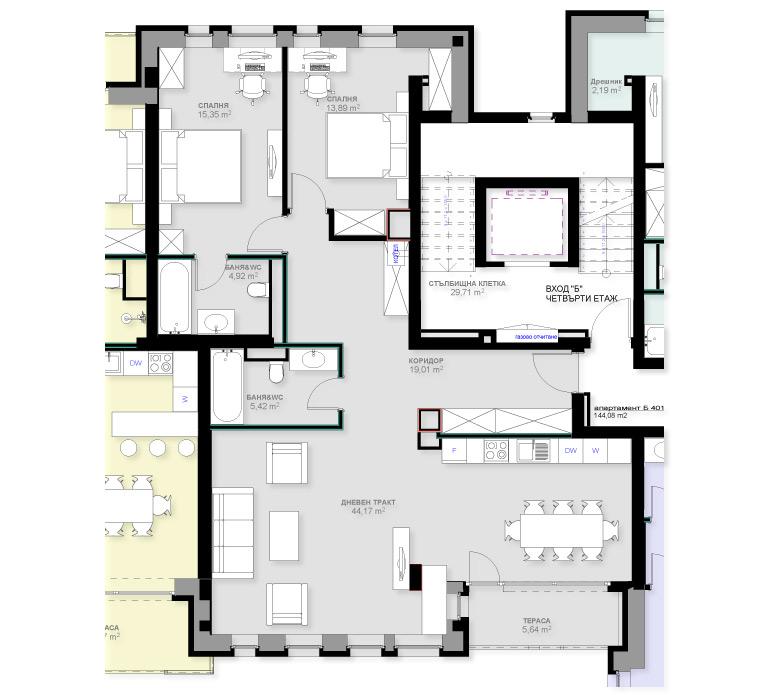 Апартамент Б401