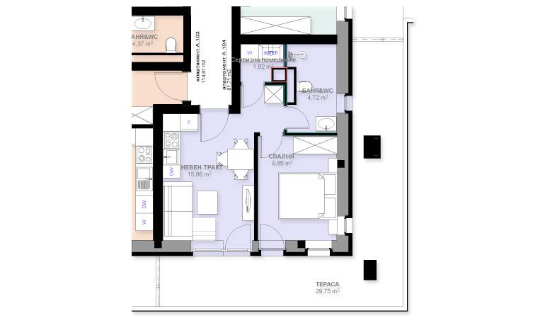Апартамент А104