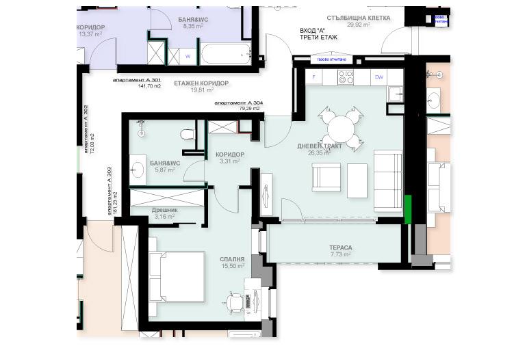 Апартамент А304