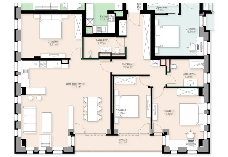 Apartment A303