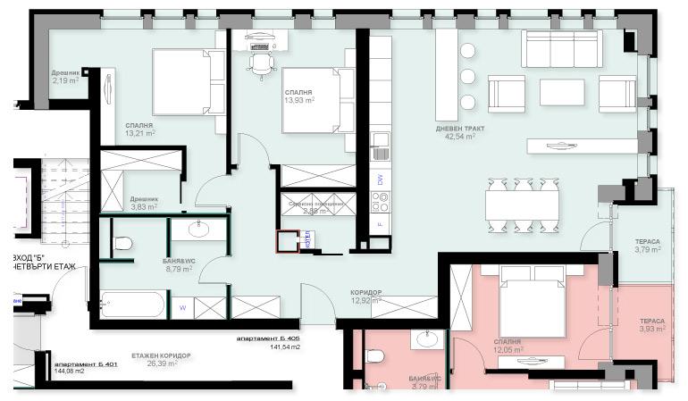 Apartment B405