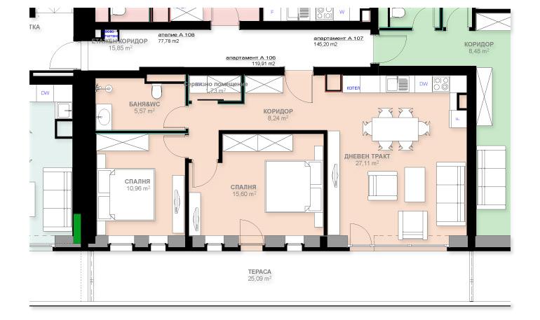 Apartment A106