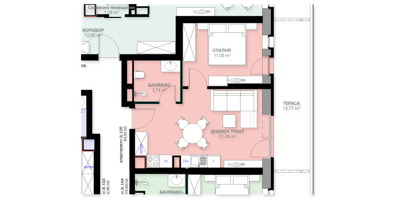 Апартамент Б105