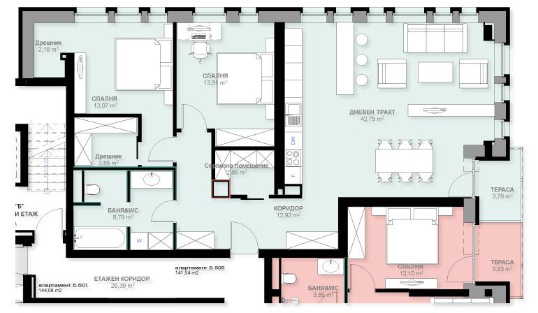 Апартамент Б605