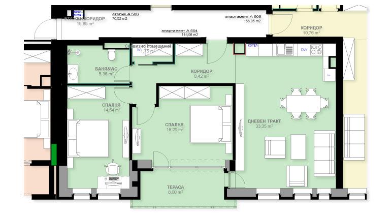 Апартамент А504