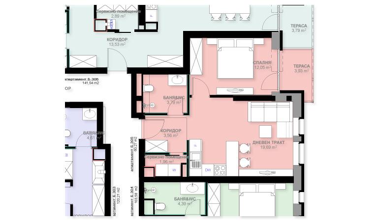 Apartment B305