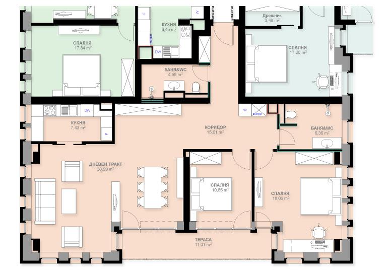Апартамент А203