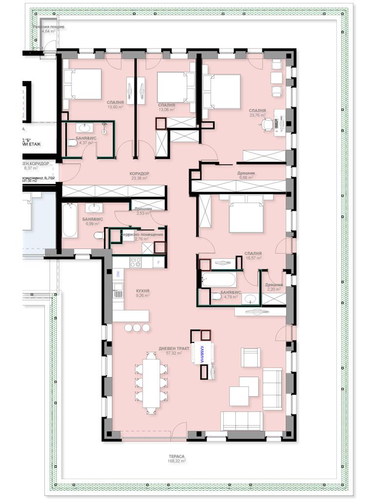 Апартамент Б702