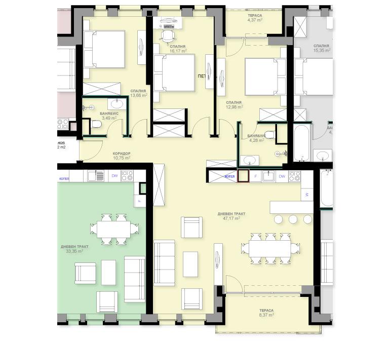 Апартамент А405