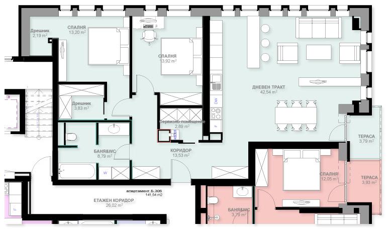 Апартамент Б306