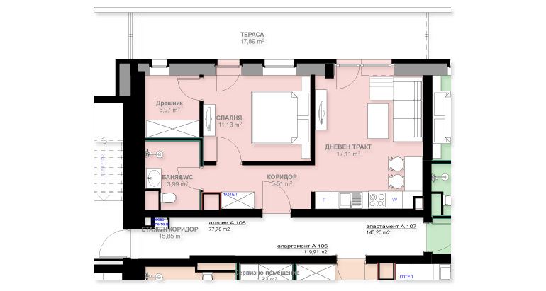 Апартамент А108