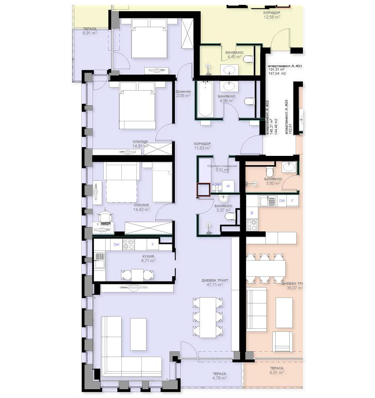 Апартамент А402