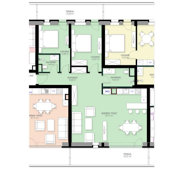 Апартамент А107