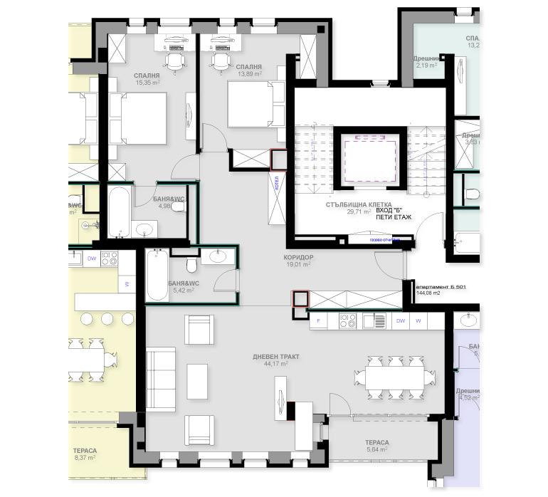 Апартамент Б501