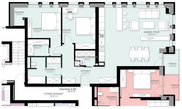 Апартамент Б206
