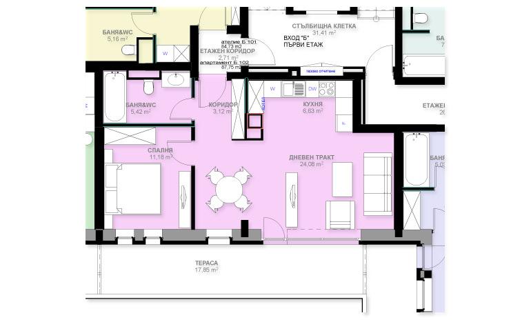 Apartment B102