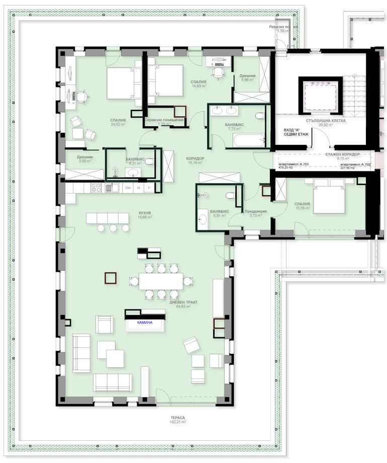 Apartment A701