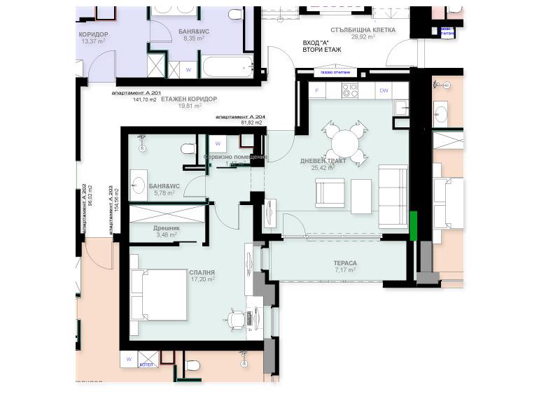Apartment A204