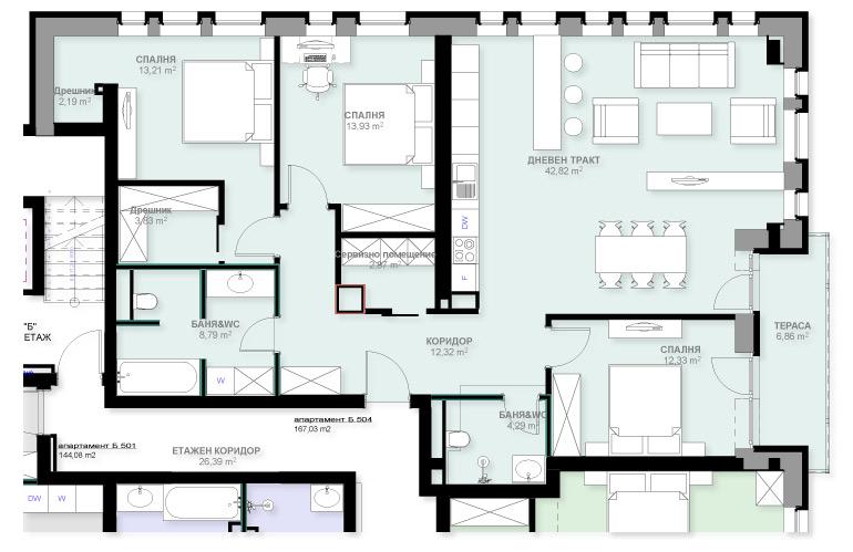 Апартамент Б504