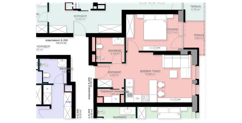 Апартамент Б205