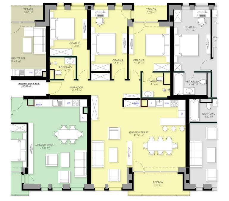 Apartment A605