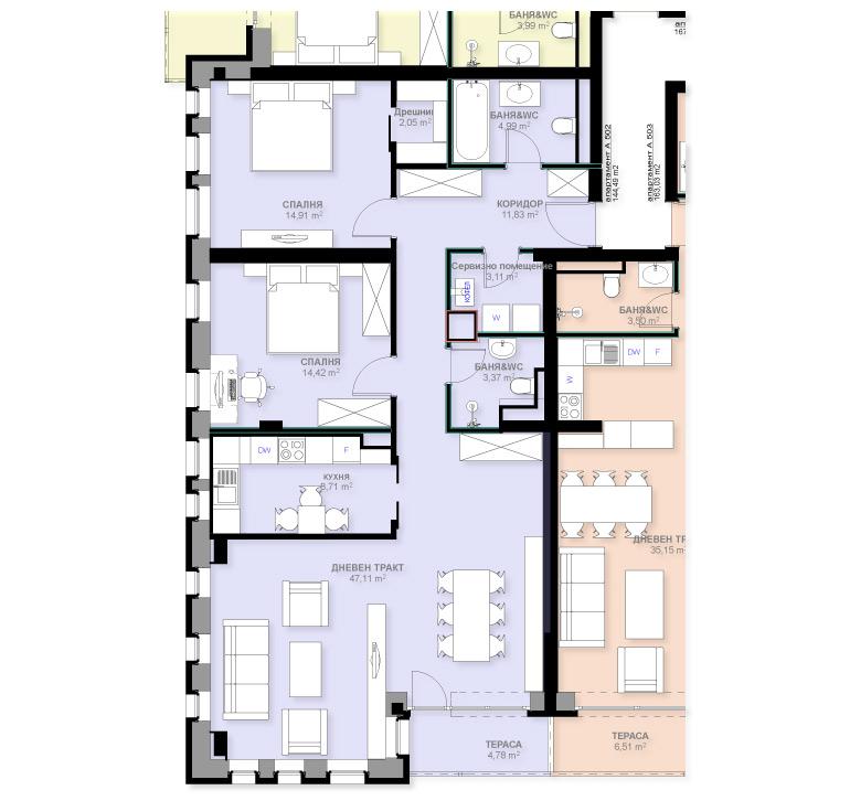 Апартамент А502