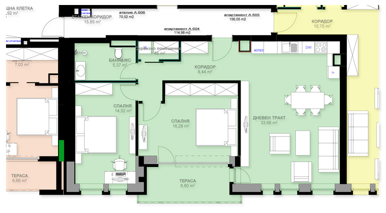 Апартамент А604