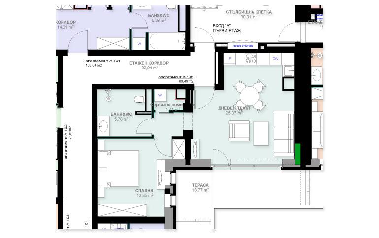 Apartment A105