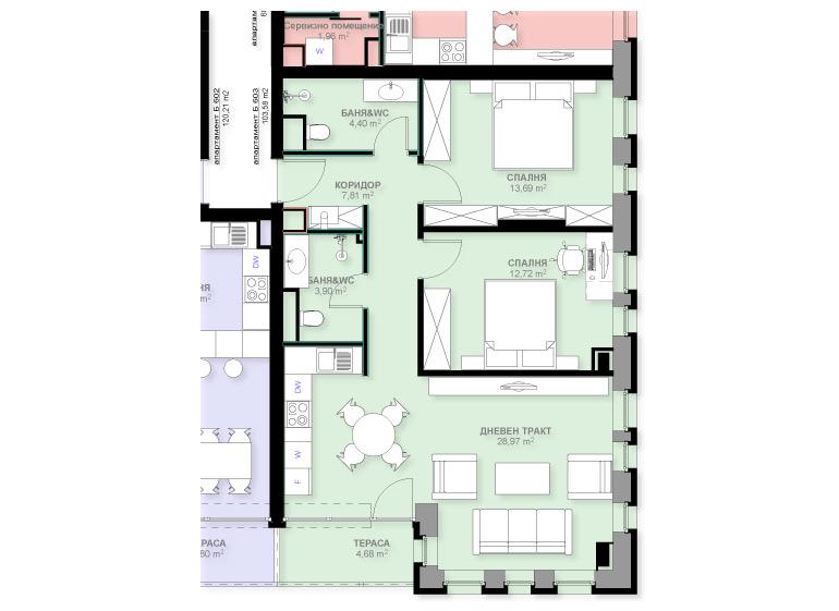 Apartment B603