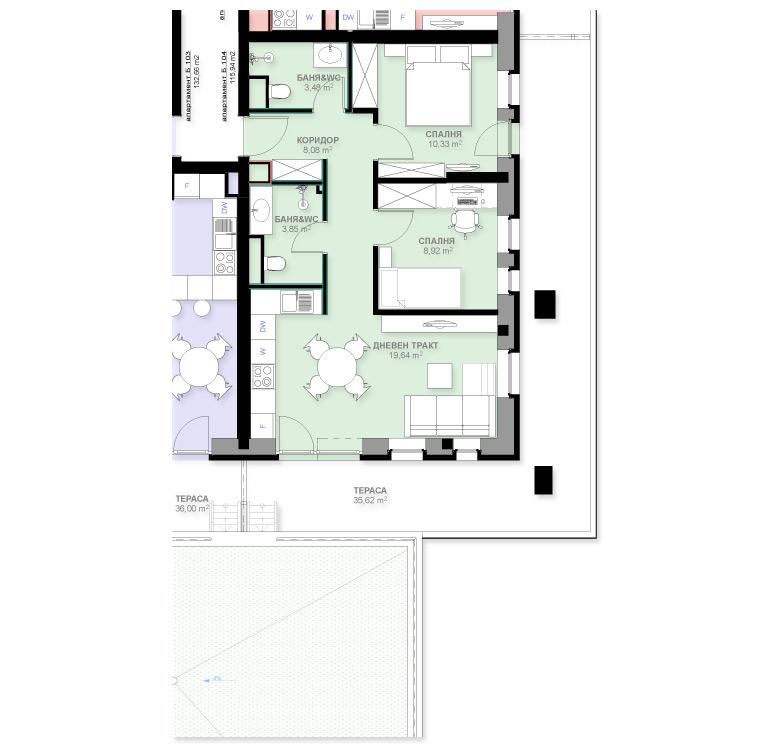 Апартамент Б104