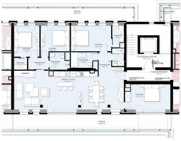 Апартамент Б701