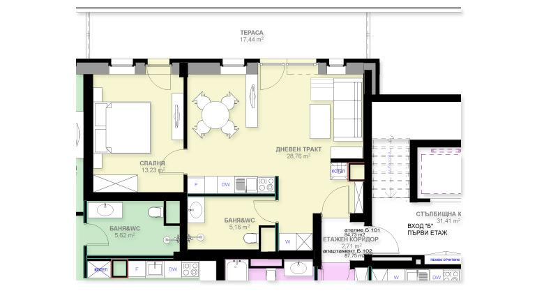 Апартамент Б101