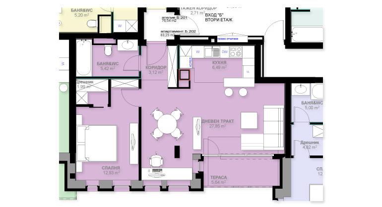 Апартамент Б202