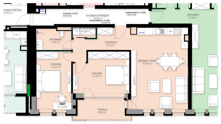 Апартамент А205