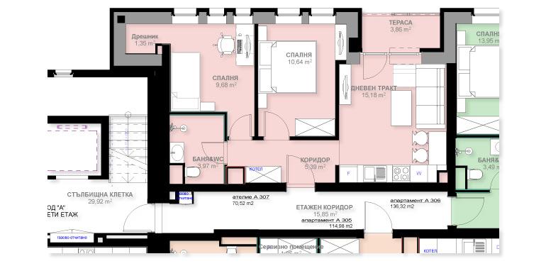 Апартамент А307