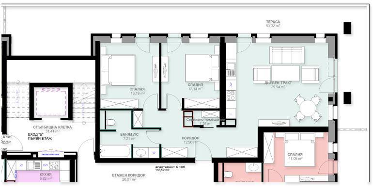 Апартамент Б106