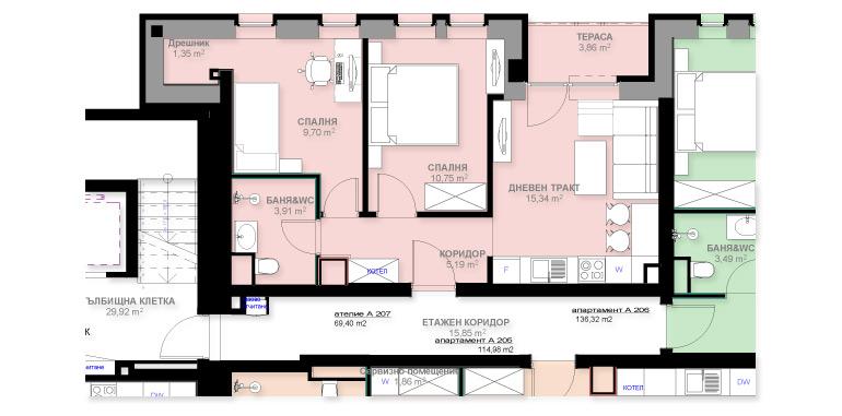 Апартамент А207